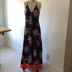 Rebecca Taylor la Vie silk floral strappy dress